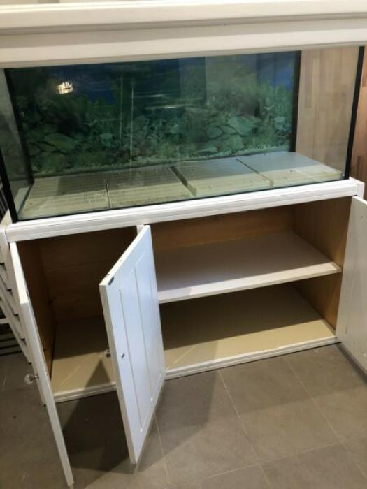 Large 4 foot Aquarium Tank with Hood Cabinet & Light
