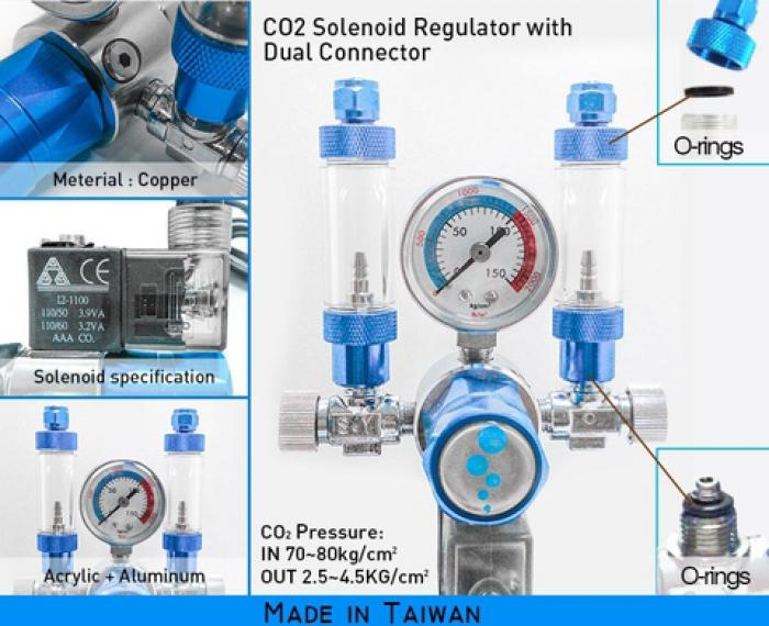 CO2 Solenoid Regulator with connector $230