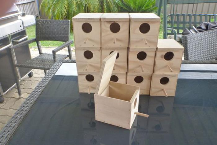 PLYWOOD FINCH NEST BOXES